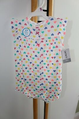 Carter's Carters Girls Size 9 Months Hearts Whale 1 Piece Outfit NWT NEW