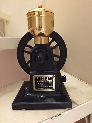 Vintage Style Birchleaf London Cast Iron Coffee Grinder Mill by David Birch