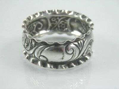 Antique silver napkin ring serviette .925 sterling Victorian Chester 1897