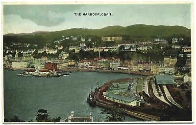Early Postcard . The Harbour . Oban . Scotland