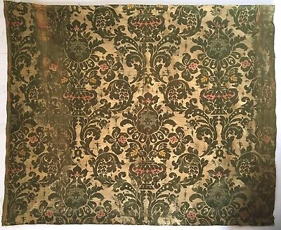 Beautiful Late 19th / Early 20th C. French Silk Woven Jacquard Fabric  (2492)