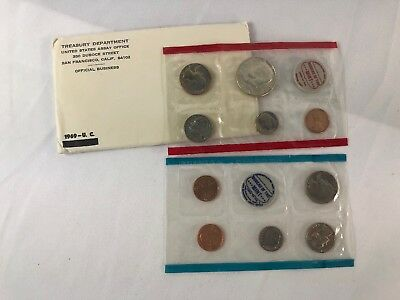 1969 Mint Set 10 Coin Set 40% Silver Half Dollar - All Original Packaging