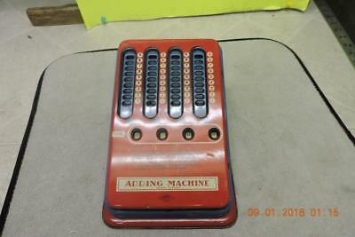 Antique 1940s Mechanical Adding Machine Wolverine Pull Dial Hand Calculator