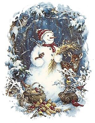 Wildlife Snowman Snowmen Winter Snow Select-A-Size Waterslide Ceramic Decals Ox