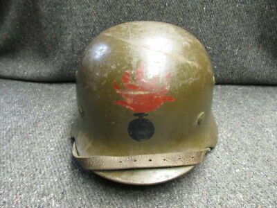 Spanish Civil War Issue German M.35 Helmet-Painted Flaming Bomb