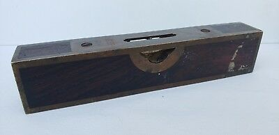 """Stratton Brothers #10 6 1/2"""" Rosewood Level 1887 Patent"""