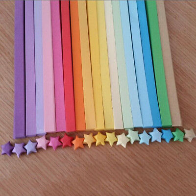 160-170pcs Origami Lucky Star Paper Strips Folding Paper Ribbons Colors
