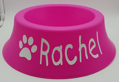 BNWT Unbranded Personalised Name Pink Flared Round 700ml Bowl