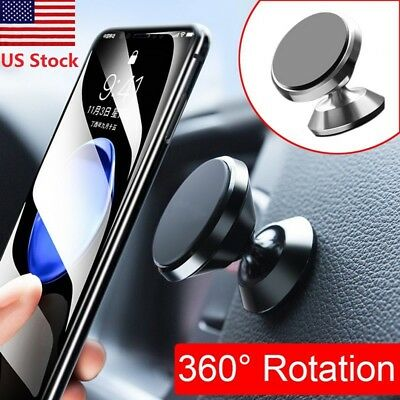 360° Magnetic Mobile Cell Phone Ipad GPS Holder Mounts for Car Dashboard US