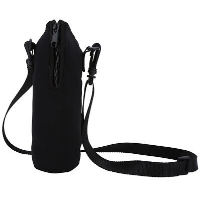 Sports Water Bottle Carrier Insulated Neoprene Bottle Holder Bag Case with Strap