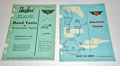 1959 Miller Falls Dealers Illustrated Catalog & Price List - Lot Of Two