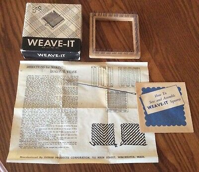 Vintage Donar 4 12 Weave It Weaving Loom W Needle Instructions
