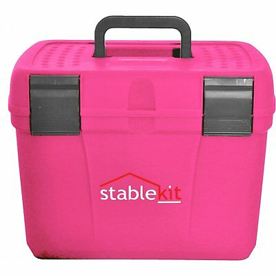 Stable Kit Tack And Unisex Horse Care Grooming Box - Pink/grey One Size