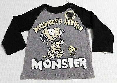16ec357cd Halloween Snoopy Mummy Little Monster Infant/Toddler Boys T-Shirt (12  Months-