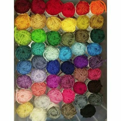 50 Skeins Acrylic Yarn Assorted Colors Perfect for Mini Knitting & Crochet