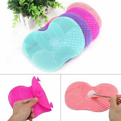 Silicone Makeup Brush Washing Scrubber Board Cleaner Pad Cleaning Mat Hand Tool