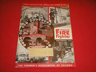 September 1964 Chicago Fire Department Fire Fighter Magazine Book