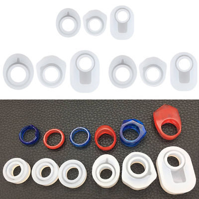 Assorted 6pcs DIY Silicone Ring Mold Epoxy Resin Jewelry Making Craft Mould Tool