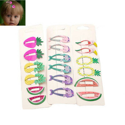 6pcs/set Animal Hairpin barrettes Hair clips Snap Clip Children Hair Accessories