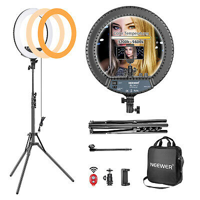 "Neewer Kit de 14"" Luz LED  de Anillo Peque?o Regulables 30W Bi-Color 3200K-5600K"