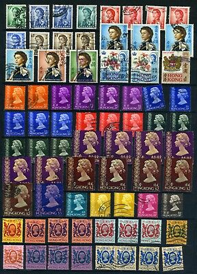 Hong Kong Small collection from the 1900's QEII used