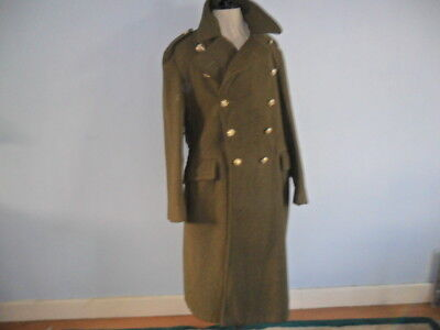 """1950s Army Greatcoat ,Odd Moth Marks,Strip Marks on Sleaves,Size 8   40"""" - 41"""""""