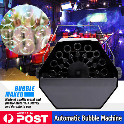 Pro Automatic Bubble Blower Blowing Maker Machine DJ Disco Party Club Electric