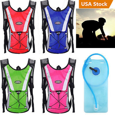 Water Bladder Backpack Hydration System Camel back Pack Bag Camping Hiking US