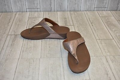 9df870686feb82 FITFLOP SHIMMY SUEDE Toe Post Sandals - Women s Size 10 - Rose Gold ...