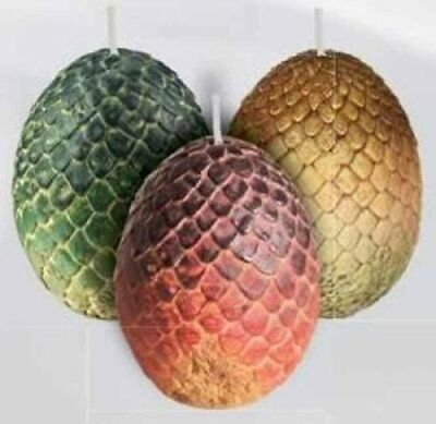 Game of Thrones: Sculpted Dragon Egg Candles: Set of 3 9781682983218