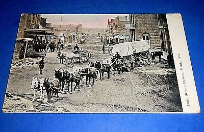 "Vintage Real Photo Postcard ""Main Street, Helena, Mont. 1872"" RPPC Horse & Buggy"