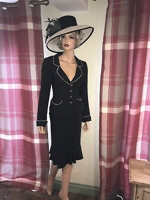 Wedding Outfit Size 14 Black And Grey 2 Peice