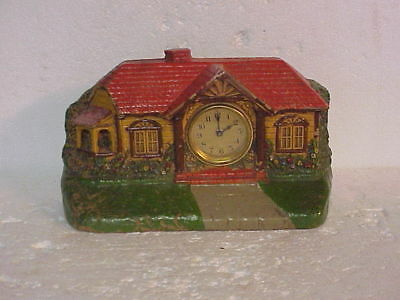 Vintage Red Roof Syrocco Lux Bungalow Clock parts repair D