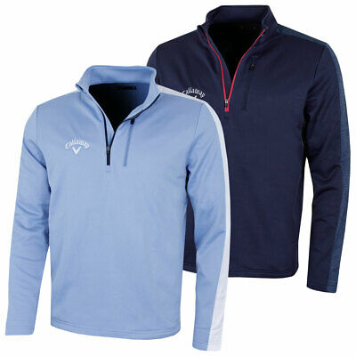Callaway Mens 2018 Opti-Therm Colour Block 1/4 Zip Golf Sweater 50% OFF RRP