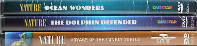Nature: 3 SET NEW DVDs Ocean Wonders, Dolphin Defender, Voyage of Lonely Turtle