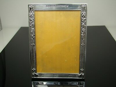 Vintage Webster Sterling Silver Birth Record Picture Frame