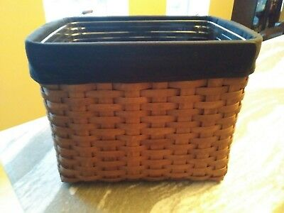 Longaberger Rich Brown Personal File Black liner Great Condition  FREE SHIPPING!