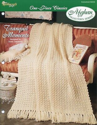 Football Fever One-Piece Afghan TNS Crochet Pattern NEW
