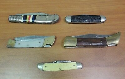 Lot of Pre-Owned Vintage Pocket Knives Parts & Pieces Worldwide Ulster