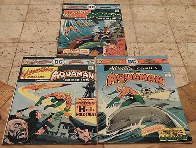 Adventure Comics #441 442 443 - Aquaman - 1975 DC Comics - Nice!