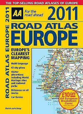 (Good)-Road Atlas Europe 2011 (AA Atlases and Maps) (Spiral-bound)-AA Publishing