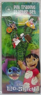 Disney Trading Pins ***  LILO & STITCH  ***     STARTER SET LANYARD Set of 4