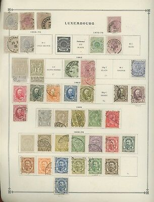 Luxembourg Scott International Album Page Lot #24 - SEE SCAN - $$$