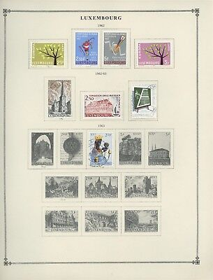 Luxembourg Scott International Album Page Lot #33 - SEE SCAN - $$$