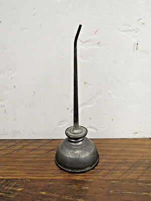 "Vintage 1 3/4"" x 5"" Small Mini Thumb Pump Bottom Oil Can"