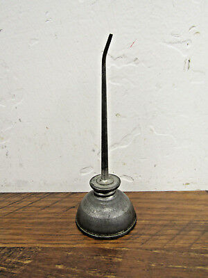 "Vintage 2"" x 4.5"" Small Mini Thumb Pump Bottom Oil Can"
