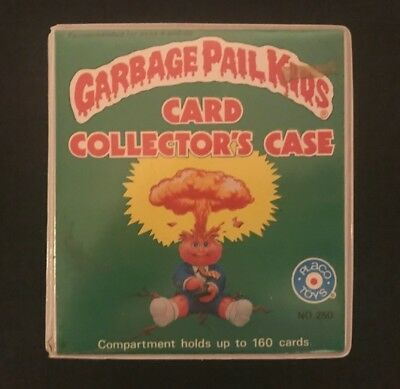 1986 Garbage Pail Kids Card Collector's Case w/ Empty Card Wrappers
