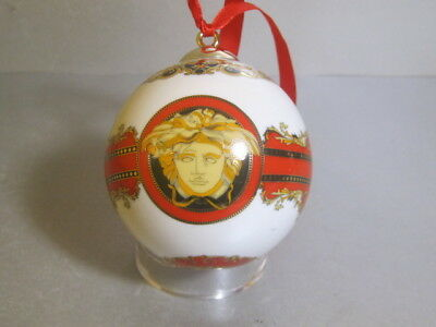 Rosenthal VERSACE MEDUSA Porcelain Christmas Ball Decoration