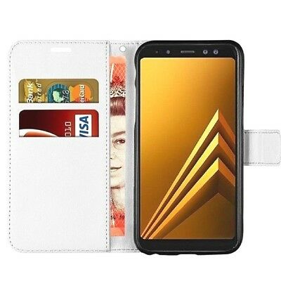 BRAND NEW White Wallet Flip Case Leather Magnetic Book Cover for Samsung Galaxy
