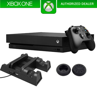 Microsoft Xbox One X Black (CYV-00001) with Dual Controller Chargers